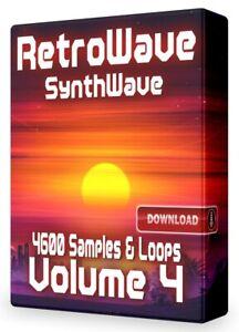 RetroWave Loops Volume 4 SynthWave Logic Acid WAV Pro Tools Ableton FL Studio