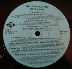 SOULS OF MISCHIEF ~ 93 Til Infinity ~ VINYL LP USA PRESS - PROMO
