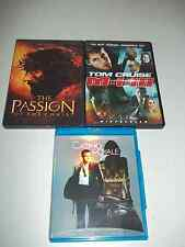 3 Dvds: Casino Royale (Blu Ray) The Passion of the Christ, Mission Impossible 3