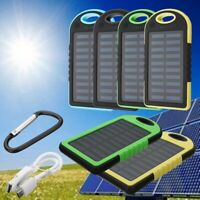 20000mAh Waterproof Portable Solar Charger Dual USB External Battery Power