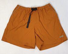 "COLUMBIA Swim Trunks XL Mens Dark Orange Mesh Lining Elastic Waist Pockets 6"""