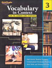 Grade 3 Vocabulary in Context Workbook +Answer Key Homeschool 3rd Common Core