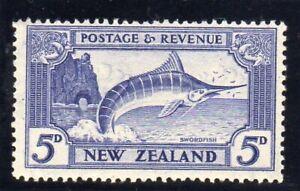 New Zealand 1936-42 GVI 5d ULTRAMARINE SG 584 LMM