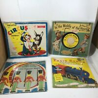 Vintage Lot of 4 Peter Pan and Little Golden 45 Records
