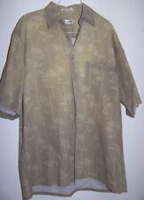 Pierre Cardin Men's SS Shirt Palm Trees Pattern, XL