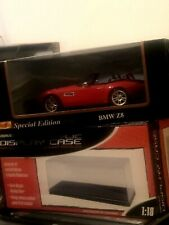 Maisto Special Edition 1/18 Scale, BMW Z8 Red Die-cast Car Red Plus Display Case