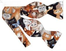 (1) BOW TIE - Kittens Galore! COLORFUL CATS AND KTTENS
