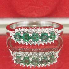 Emerald Diamond Not Enhanced Sterling Silver Fine Jewellery
