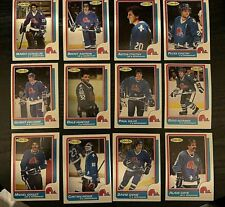 1986-87 O-Pee-Chee  QUEBEC NORDIQUES 12 card team  lot