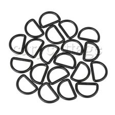 20Pcs Plastic Round D Ring Buckle for Backpack Bags Straps 2.5cm Black