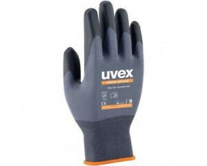 3 PAIRS Uvex Safety Gloves Athletic Allround Precision Assembly/Handling Gloves