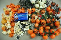 Over 80 HALLOWEEN Light Covers & Strings + 3 LED Strings ~ Ass't Figures ~ Used