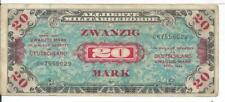 1944 MPC Military Payment Certificate German 20 zwanzig Mark Note Deutsche #029