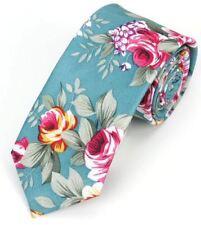 New Hawaiian Shirt Neck Tie Blue Flower Floral NeckTie Luau Hawaii US SELLER