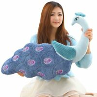 Blue plush peacock pecreative Stuffed soft toys pillow doll Xmas kids gifts 60cm
