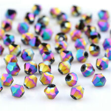 Beads For Bracelet Diy Jewelry 100Pcs4Mm Rainbow Crystal Glass Loose Spacer