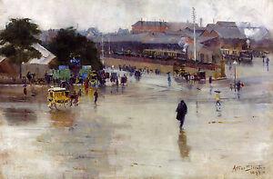 Arthur Streeton, The Railway Station Redfern 1893, Fade Proof HD Print or Canvas