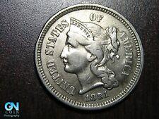 1881 3 Cent Nickel Piece    BETTER GRADE!  NICE TYPE COIN!  #B6732