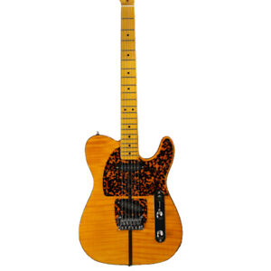 TL Style Anderson Mad Cat Electric Guitar Flame Maple Veneer Pearl Body Binding