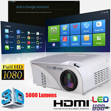 para Full HD 1080p 5000 LUMENS 3d LED CINE DE CASA THEATER Proyector HDMI USB