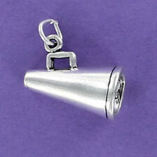 Megaphone Charm Sterling Silver for Bracelet NEW Cheerleading Sports Game