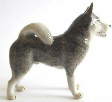 Alaskan Malamute Miniature Porcelain Hand Painted Standing Dog Figurine