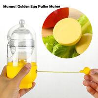 Egg Scrambler Shaker Whisk Hand Egg Maker Eggs Yolk White Mixer Kitchzh