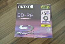 Maxell 5 Pack Bd-re Blu-ray Disc regrabable 7.5GB Full HD 1920x1080 60min Sellado