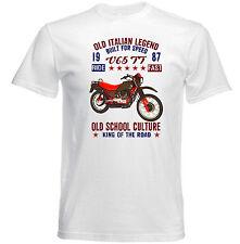 VINTAGE ITALIAN MOTORCYCLE MOTO GUZZI V65 TT - NEW COTTON T-SHIRT