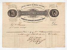 fattura antica - CARLO COSTAMAGNA E FIGLIO FABBRICANTI DI PELLICCIERIE 1894