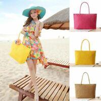Woven Rattan Straw Handbag Women Vintage Knitted Bags Summer Beach Shopping Tote
