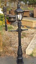 USED Ex-Display 1.5m Miniature Black Victorian Garden Lamp Post and Lantern Set