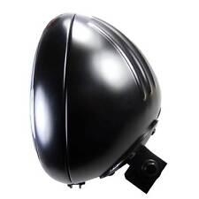 Ribbed Style Motorradscheinwerfer Hauptscheinwerfer schwarz 7 Zoll E geprüft