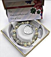 Personalised Engraved Graduation Ceremony Celebration Cube Bead Bracelet in Box