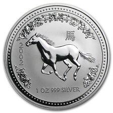 2002 Australia 1 oz Silver Year of the Horse BU - SKU #1102