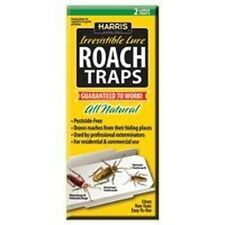 New Harris Rtrp Pack (2) Roach Traps With Lures Pest Killer Sale Works 4456125