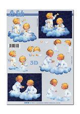 LeSuh 3D Motivbogen Etappenbogen 3D Bild Kinder auf Wolke (048) Grusskarte