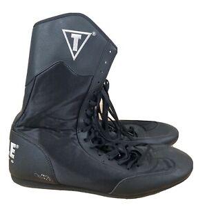 Title Boxing Shoes Speed-Flex Encore Mid-Length Boxing Shoes - Black Size 12 Men