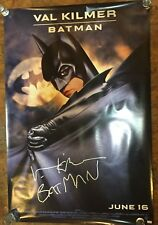 "Batman Forever VAL KILMER Signed Movie Poster 27x40 Inscribed ""Batman"""