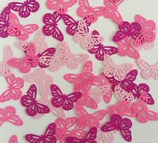 Martha Stewart Butterfly Punch Scrapbooking 35Pcs Pink Tone Party Craft Confetti