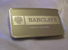 SOLID SILVER INGOT BARCLAYS from LONDON ENGLAND