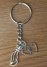 Cats KEYRING Love Cat Kitten Pet KEY RING Gift Chain for handbag phone keys LGW