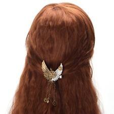 Vintage Steampunk Gear Wings Hair Clip Gothic Punk Lolita Girls Hairpin Headwear