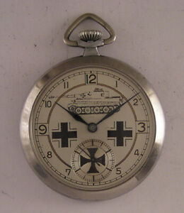 Vintage Swiss Military PAT.DRP Hi Grade Pocket Watch Serviced