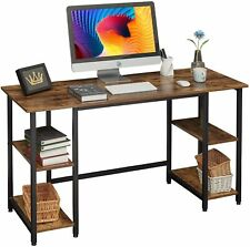Corner Computer Desk Writing Study Table with Storage Shelves Home Office Simple