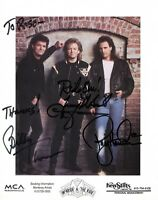 MCBRIDE AND THE RIDE SIGNED AUTOGRAPH 8x10 SIGNED PRESS PHOTO-BROOKS AND DUNN