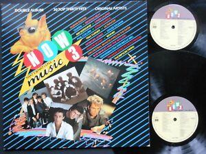 "NOW That's What I Call MUSIC 3 UK 12"" Vinyl x2 LP 1984 EMI / Virgin NOW3 Gfd slv"