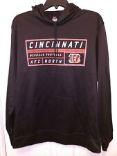 NFL Cincinnati Bengals Football AFC North Majestic Hooded Sweatshirt Men's Large