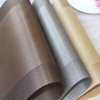 European Style PVC Stripe Coaster Table Mat Dinning Bowl Dish Insulation Mat Pad