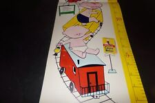 Vintage Cream of Wheat Childrens Growth Chart Children in Train leaving Castle